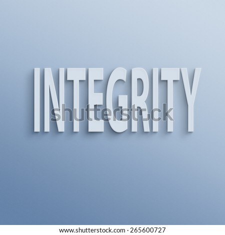 text on the wall or paper, integrity  - stock photo