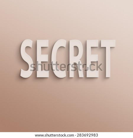 text on the wall or paper, secret - stock photo