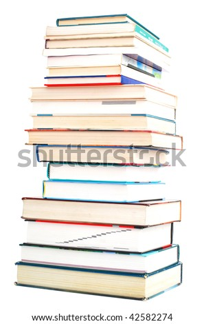 textbooks collection - stock photo