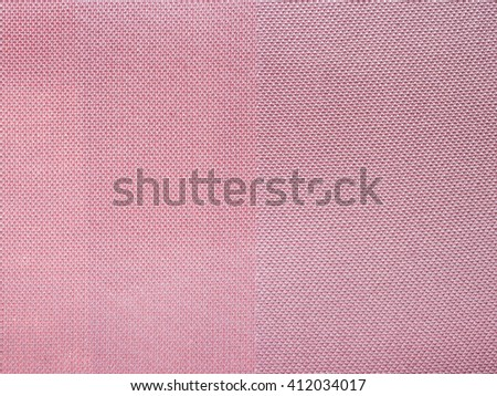 textile background - pink fabric with Satin and chiffon weave pattern of threads close up - stock photo