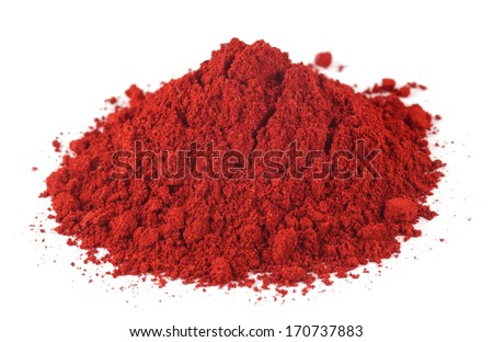 Textile color powder over white background - stock photo
