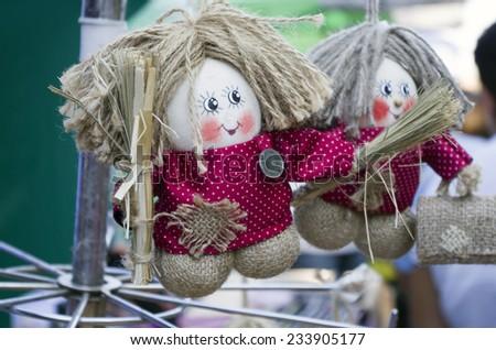 Textile handmade toy - brownie - stock photo