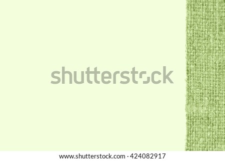 Textile linen, fabric interior, emerald canvas, faded material old-fashioned background - stock photo