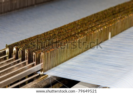 textile machine - stock photo