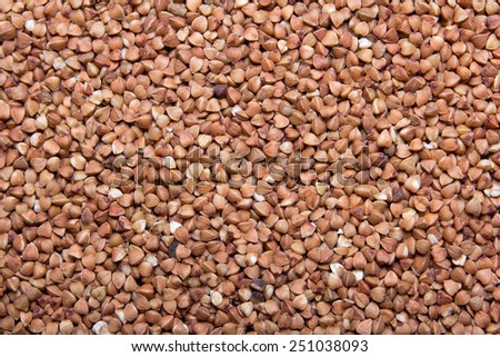 texture background - close up of raw buckwheat grains - stock photo