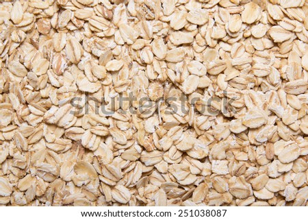 texture background - close up of raw oatmeal - stock photo