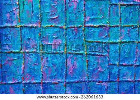 Texture, background of colorful painting - stock photo