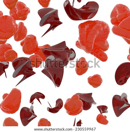 Texture broken immunity viruses infection - stock photo
