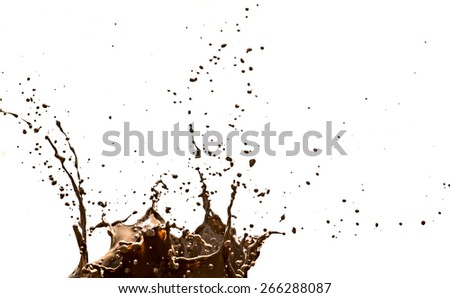 Texture clay moving in white background, blur - stock photo