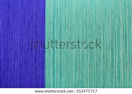 Texture color of thread, Cotton yarn on a warping machine of a textile mill - stock photo
