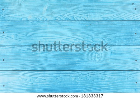 texture detail of blue wood panel - stock photo