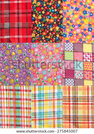 Texture fabric for June Festival - stock photo