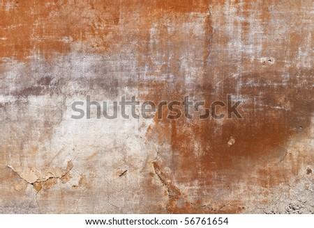 texture - facade of an old tuscan house - stock photo