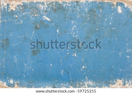 texture, grunge, blue cardboard with age marks - stock photo