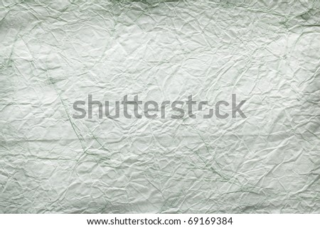 Texture image crumpled white - green paper. - stock photo