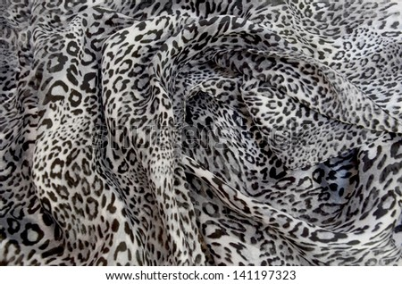 texture leopard scarf - stock photo