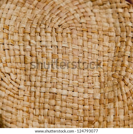 Texture of a basket - stock photo