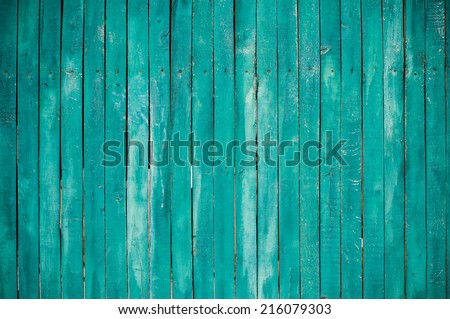 Texture of a green wooden planks, bright barn wall, rustic style - stock photo