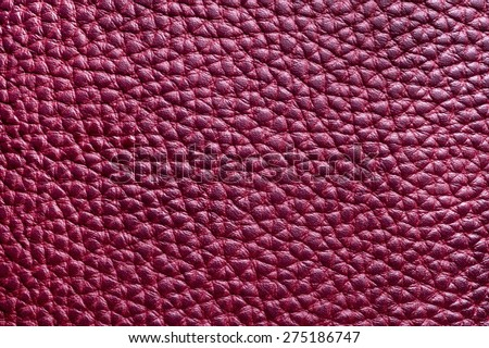 Texture of a leather close-up, Marsala - stock photo
