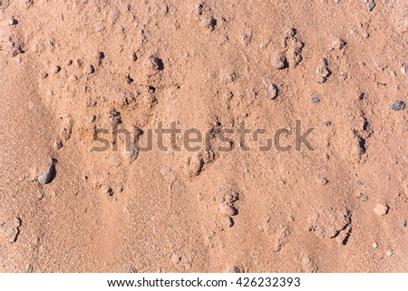 texture of a light tan sand and stones - stock photo