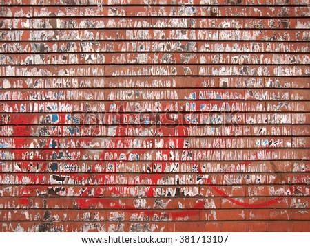 texture of a red and dirty brick wall - stock photo