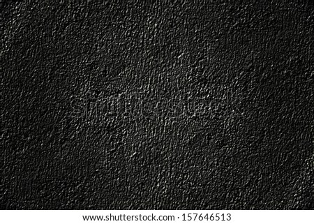 Texture of a wall the painted black paint - stock photo