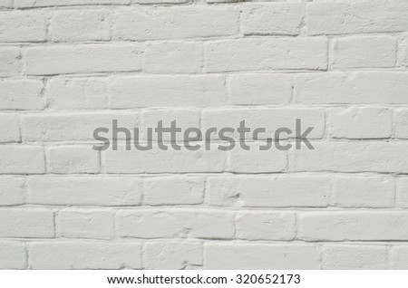 Texture of a white brick wall  - stock photo