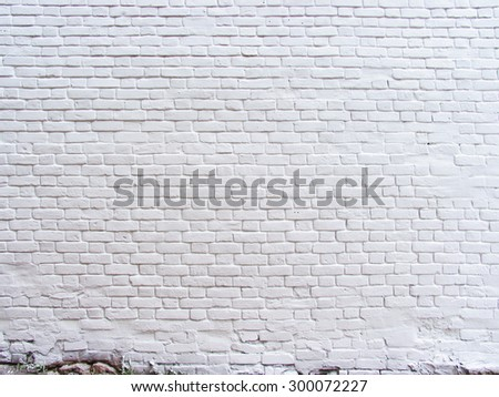 texture of a white painted brick wall - stock photo