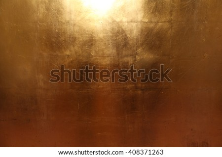 Texture of an gold metall plates - stock photo