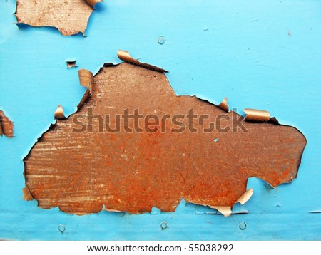 Texture of an rusty metal surface with cracked paint - stock photo