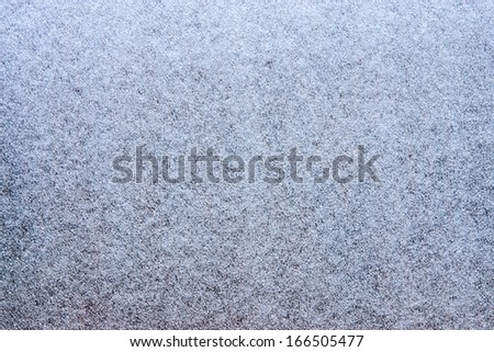 Texture of artificial synthetic blue hoarfrost and ice for wallpaper and an abstract background - stock photo