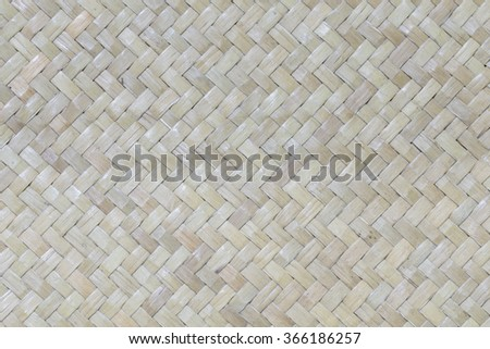 Texture of Basket Weave made from Rattan - stock photo