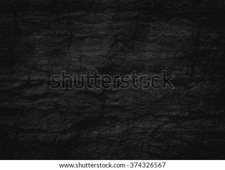 texture of black stone background - stock photo
