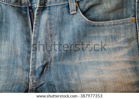 Texture of blue jean for background - stock photo