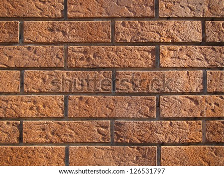 texture of brick wall, red - stock photo