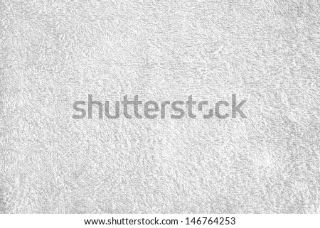 texture of bright white bath towel - stock photo