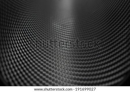Texture of Carbon Fiber Sticker - stock photo