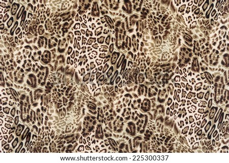 texture of close up print fabric striped leopard for background - stock photo
