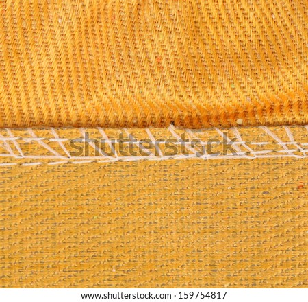 Texture of cloth with stitch. Whole background. - stock photo