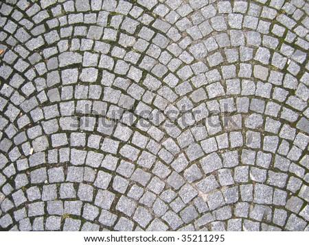Texture of cobblestone - stock photo