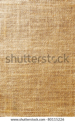 Texture of cotton old fabric, close up - stock photo