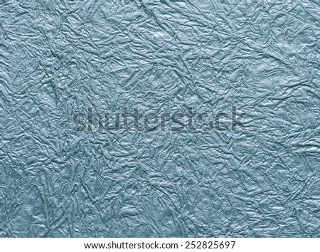 texture of crumpled blue paper. - stock photo