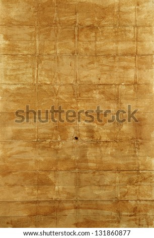texture of crumpled, dirty, brown paper - stock photo