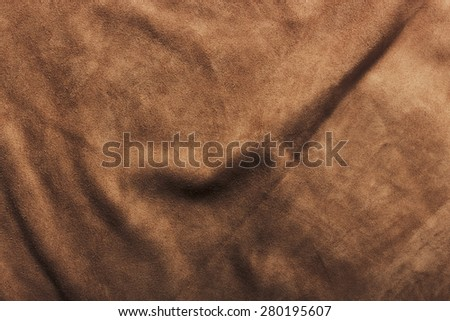 Texture of crumpled leather - stock photo