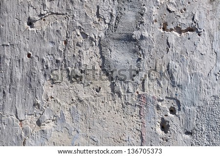 Texture of exposed rough concrete wall. - stock photo