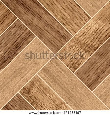 Texture of fine dark brown parquet - stock photo