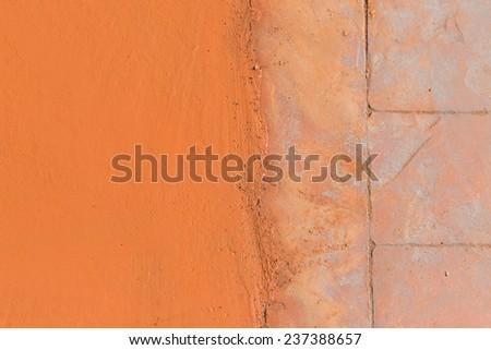 Texture of floor cement walkway design - stock photo