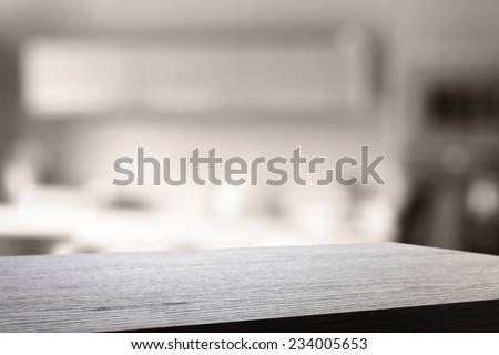 texture of fuzzy kitchen furniture and black desk  - stock photo
