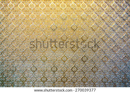 Texture of glass panel, Thailand. - stock photo