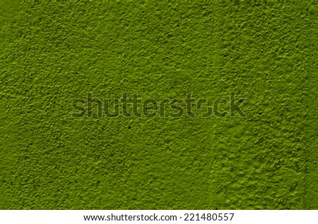 texture of green plaster wall background - stock photo